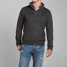 New Abercrombie & Fitch Mens Owls Head Mountain Sweater Gray Large NWT