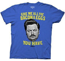 Parks & Recreation Ron Swanson Bacon & Eggs Breakfast Adult Unisex T-Shirts