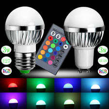 3W E27/GU10  LED RGB Magic Spot Light Bulb Lamp With 24 Key IR Remote Controller