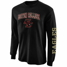 Boston College Eagles Black Arch & Logo Long Sleeve T-Shirt