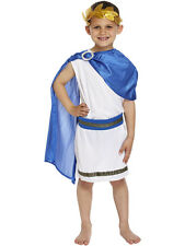Boy Roman Emperor King Toga Caesar Ancient Greek Childs Kids Fancy Dress Costume