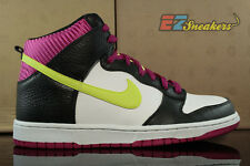 NIKE DUNK HIGH WHITE VOLT BLACK FIREBERRY 317982-127 NEW SIZE: 9.5