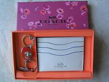 ~COACH SET Card Case & Turnlock Valet Keychain Fob Key Ring New in Box!~