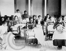 1899 Greensboro Nc Negro Women Sewing Class Photograph Historical Vintage