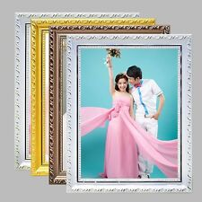 New Photo Frame European Retro Wood Picture Frame Gallery Home Ornaments Crafts