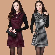 new Autumn winter Korean fashion Elegant shitsuke Knitting woolen together skirt