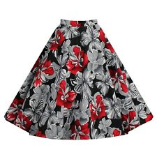 Vintage Style Bubble Skirt Dress A-line Pleated Skirt Dress  red