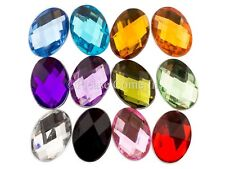 Oval Rhinestones 8mm x 6mm, 14mm x 10mm, 18mm x 13mm in Mixed Colour Pack