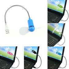 Mini Cooling Fan Cooler Flexible USB For Laptop Desktop PC Computer Heat Sink