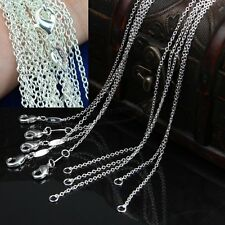 "Bulk of 100PCS Silver Plated 1mm Link Rolo Chains Necklace 16""/18""/20""/22""/24''"