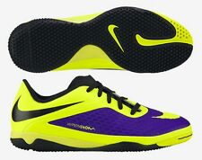 NIKE HYPERVENOM PHELON IC INDOOR SOCCER FUTSAL SHOES Electro Purple/Volt/Black.