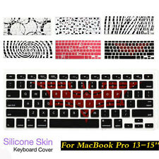 NEW Soft Pattern Keyboard Silicone Cover Case Skin For MacBook Air Pro 13-15''