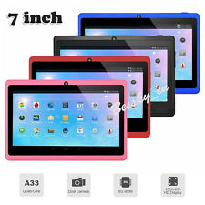 "7"" Touch Screen A33 Quad Core Android 4.4 8GB Dual Camera WiFi Bluetooth Tablet"