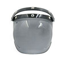 Mirrored Bubble 3-Snap Motorcycle Helmet Visor Flip Up Wind Face Shield Lens