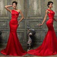 One Shoulder Formal Wedding Evening Prom Party Bride Dress Bridesmaids Ball Gown
