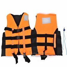 Life Jacket Vest For Adult  Swimming Boating Ski Vest With Whistle M/L/XL/XXL