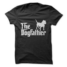Dogfather Pitbull - Pit Bull Dogs Pet Funny T-Shirt Short Sleeve 100% Cotton NEW