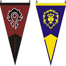 For World Of Warcraft Alliance/Horde Triangle Flag Game Tool Wild Tribe Small