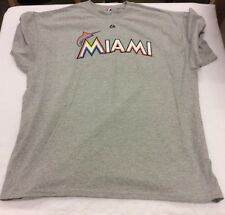 Majestic Mens, Gray, Name & Number T-Shirt, Miami Marlins, Giancarlo Stanton