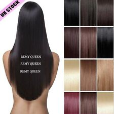 UK HOT SALE New Item Clip In 100% Real Remy Human Hair Extensions Full Head J638