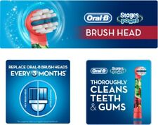 Braun Oral B Stages AVENGERS Kids Toothbrush Replacement Brush Heads Refills NEW