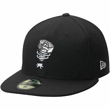 New Era Lansing Lugnuts Black Home Authentic Collection 59FIFTY Fitted Hat