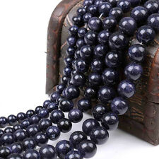 Practical Natural Blue Round Gemstone Loose Spacer Beads DIY Gift 4/6/8/10/12mm