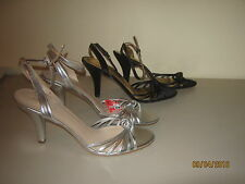 Nine West strappy shoes silver size 10M