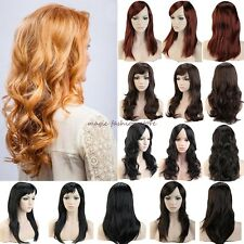 Women Long Curly Straight Full Head Wigs Cosplay Party Daily Fancy Dress Haircut