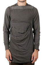 RICK OWENS DRKSHDW New Men DarkDust Cotton VICIOUS LAYERED T-shirt Tee Made Ita