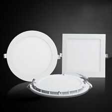 LED Recessed Ceiling Flat Panel Light Warm Cool White 6W 9W 12W 15W 18W 21W Lamp