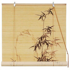 Oriental Furniture Bamboo Design Blinds in Beige and Tan