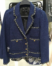ZARA TWEED JACKET NAVY BLUE XS-XXL REF. 7780/635