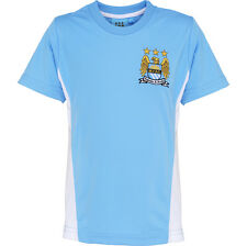 Kid Children Boys Manchester Man City FC Football Club Short Sleeve T Shirt Top