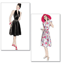 Butterick Retro Misses Sewing Pattern 5209 Vintage Halter Swing Dress