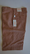 "Inserch Mens 100% Linen shorts (Styel: P21116) ""40-copper"""