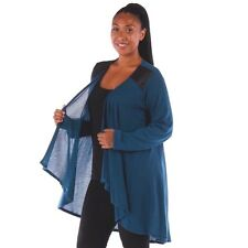 New Women's Plus Size Teal Knit Open Cardigan (Sweater) Sizes 4X 5X 6X Made USA