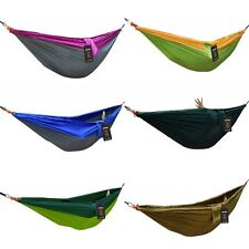 Outdoor Double Person Nylon Travel Camping Parachute Hammock Swing With Straps