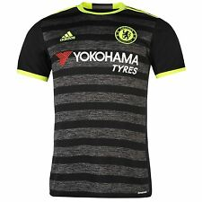 Adidas Chelsea FC Away Jersey 2016 2017 Mens Black/Yellow Football Soccer Shirt