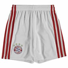 Adidas Bayern Munich Home Shorts 2016 2017 Juniors White/Red Football Soccer