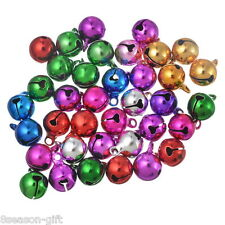 Wholesale Gift Mixed Color Christmas Bells Charm Pendant 14x10mm