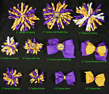 LSU Tigers Themed Korkers Classic Layered Toddler Hair bows UPICK