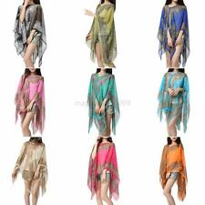 Women Summer Chiffon Scarves Sunscreen Long Shawl Shoulder Wrap Scarf Gifts