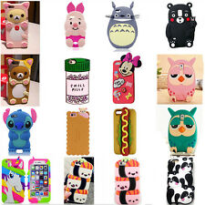 3D Cartoon Disney Soft Silicone Rubber Case Cover For iPhone Samsung LG Huawei