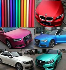 Full Roll - Metallic Matte Chrome Satin Vinyl Car Wrap Sticker Sheet Air Free HD