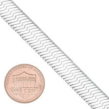 9 mm Wide Solid .925 Italy Stamped Sterling Silver Herringbone Long Neck Chain