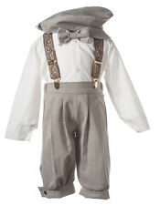 NEW Boys Tan  Knicker Set,  Kids Formal Outfit for Infants, Toddlers, & Boys