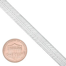7mm Solid 925 Sterling Silver Italian Crafted Herringbone Chain