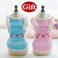 Cute Pet Doggie Rabbit Apparel Dog T-shirt Puppy Tedy LOVE Vest For Small Dog