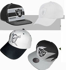 OAKLAND RAIDERS VINTAGE CLASSIC MITCHELL & NESS SHARKTOOTH STRIPE SNAPBACK HAT